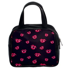 Pattern Of Vampire Mouths And Fangs Classic Handbags (2 Sides)