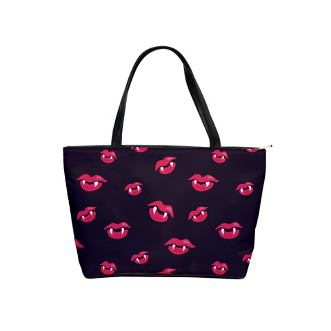 Pattern Of Vampire Mouths And Fangs Shoulder Handbags