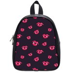 Pattern Of Vampire Mouths And Fangs School Bags (Small)  Front