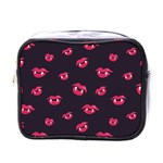 Pattern Of Vampire Mouths And Fangs Mini Toiletries Bags Front