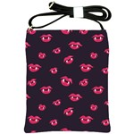 Pattern Of Vampire Mouths And Fangs Shoulder Sling Bags Front