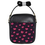 Pattern Of Vampire Mouths And Fangs Girls Sling Bags Front