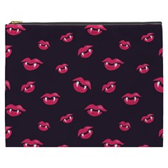 Pattern Of Vampire Mouths And Fangs Cosmetic Bag (xxxl)