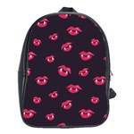 Pattern Of Vampire Mouths And Fangs School Bags (XL)  Front