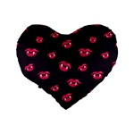 Pattern Of Vampire Mouths And Fangs Standard 16  Premium Heart Shape Cushions Back