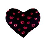 Pattern Of Vampire Mouths And Fangs Standard 16  Premium Flano Heart Shape Cushions Front