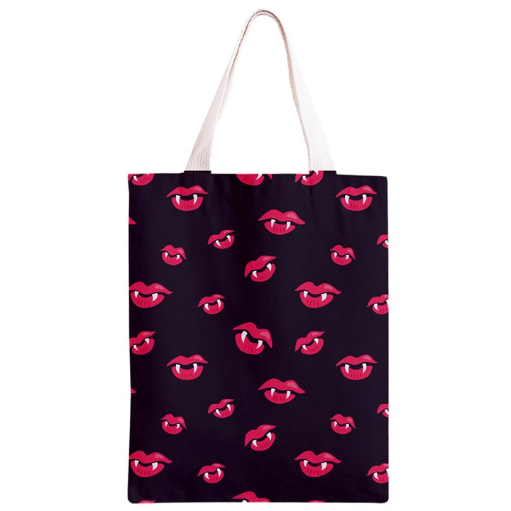 Pattern Of Vampire Mouths And Fangs Classic Light Tote Bag