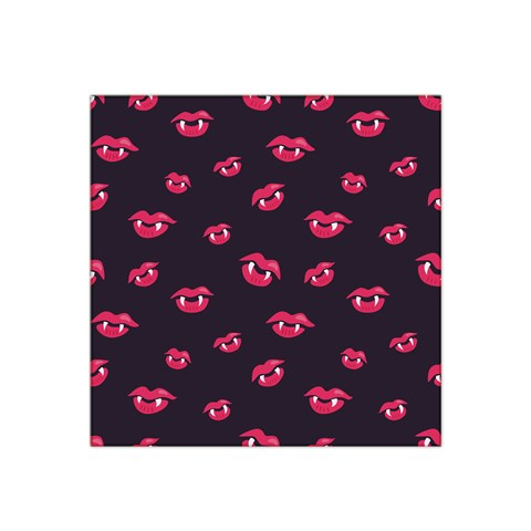 Pattern Of Vampire Mouths And Fangs Satin Bandana Scarf