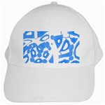 Blue summer design White Cap Front