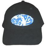 Blue summer design Black Cap Front