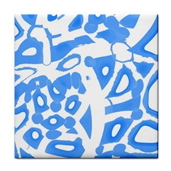 Blue summer design Tile Coasters