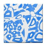Blue summer design Tile Coasters Front