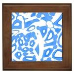 Blue summer design Framed Tiles Front