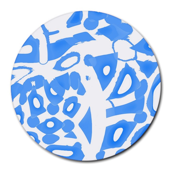 Blue summer design Round Mousepads