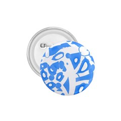 Blue summer design 1.75  Buttons