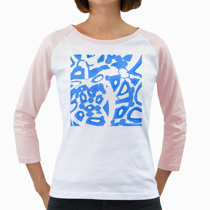 Blue summer design Girly Raglans
