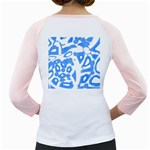 Blue summer design Girly Raglans Back