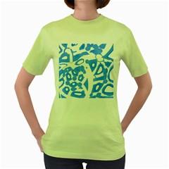 Blue Summer Design Women s Green T Shirt