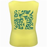 Blue summer design Women s Yellow Tank Top Back