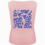 Blue summer design Women s Pink Tank Top Back