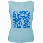 Blue summer design Women s Baby Blue Tank Top Front