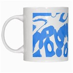Blue summer design White Mugs Left