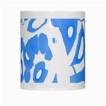 Blue summer design White Mugs Center