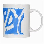 Blue summer design White Mugs Right