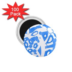Blue Summer Design 1 75  Magnets (100 Pack)
