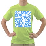 Blue summer design Green T-Shirt Front