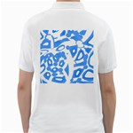 Blue summer design Golf Shirts Back