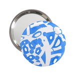 Blue summer design 2.25  Handbag Mirrors Front
