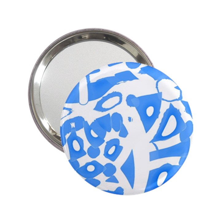 Blue summer design 2.25  Handbag Mirrors