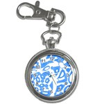 Blue summer design Key Chain Watches Front