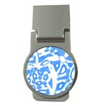 Blue summer design Money Clips (Round)  Front