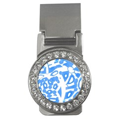 Blue summer design Money Clips (CZ)