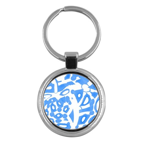 Blue summer design Key Chains (Round)