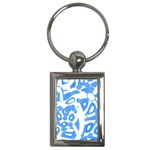 Blue summer design Key Chains (Rectangle)  Front