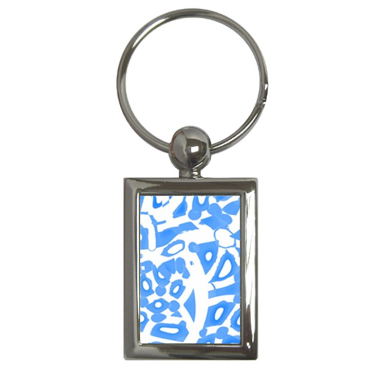 Blue summer design Key Chains (Rectangle)