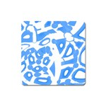 Blue summer design Square Magnet Front