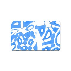 Blue summer design Magnet (Name Card)