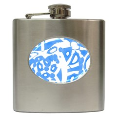 Blue summer design Hip Flask (6 oz)
