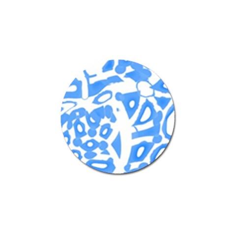 Blue summer design Golf Ball Marker (4 pack)