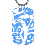 Blue summer design Dog Tag (Two Sides) Front