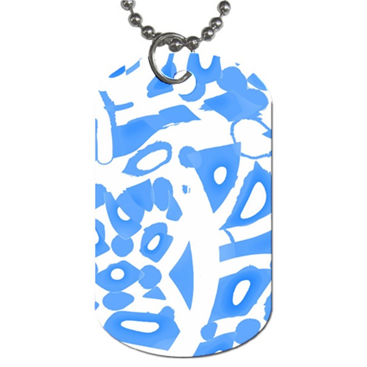 Blue summer design Dog Tag (Two Sides)
