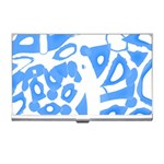 Blue summer design Business Card Holders Front