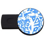 Blue summer design USB Flash Drive Round (1 GB)  Front
