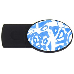 Blue summer design USB Flash Drive Oval (1 GB)