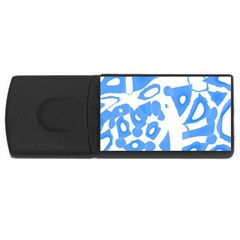 Blue summer design USB Flash Drive Rectangular (1 GB)