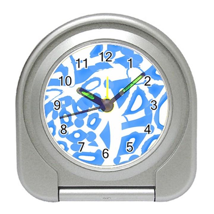 Blue summer design Travel Alarm Clocks